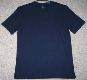 Small Van Heusen Tee T-Shirt Blue Women's Rayon Polyester Crewneck Woman Top