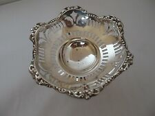 PIERCED DISH ON STAND STERLING SILVER CHESTER 1916