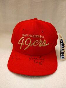 Roger Craig #33 &Ronnie Lott #42 autographed 49ers ball cap
