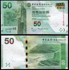 Hong Kong 50 dólares (P342a) Bank of China 2010 UNC
