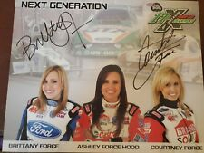 Autograph 2011 Picture NHRA Brittany Force & Courtney Next Generation
