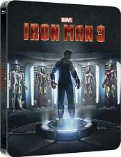 Iron Man 3 - Zavvi Exclusive Lenticular Edition Steelbook Blu-ray NEW