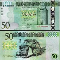 Libya 50 Dinars 2016, UNC, P-84