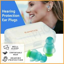 【Reusable】Silicone Ear Plugs Noise Cancelling Earplugs Protector Study Sleep