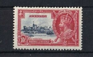ASCENSION 1935 GV Silver Jubilee 1½d Blue and Scarlet LMM