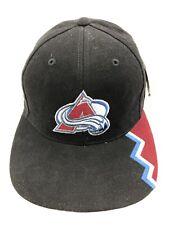 Colorado Avalanche NHL Bauer Black Strapback Hat Cap NWT