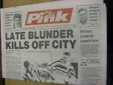 11/04/1992 Coventry Evening Telegraph The Pink: Main Headline Reads: Late Blunde