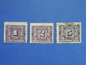 #J1-J2, J4a used NG  First Postage Due stamps     CV=$17.90