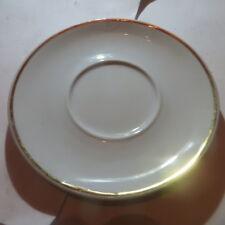 Petite assiette avec liseré or « La porcelaine de Baudour - création et exclusiv