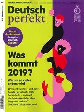 Deutsch perfekt, Heft Dezember 13/2018: Was kommt 2019?  +++ wie neu +++