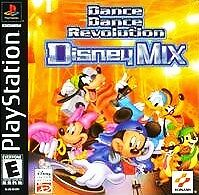 Dance Dance Revolution Disney Mix PS1 Great Condition Complete Fast Shipping