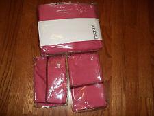 NIOP DKNY Twill Stitch Pink Full/Queen Duvet Cover Set 3Pc