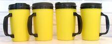 STORE CLOSING - 4  20 oz Yellow Thermo Serv Insulated Travel Mugs