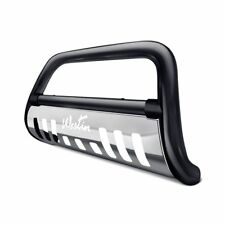 """Westin 3""""Ultimate Black Bull Bar w Brushed Skid Plate For 15-18 Canyon,Colorado"""