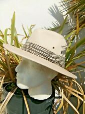 Adults unisex FEDORA Style Wide brim hat 100/% cotton summer hat check band