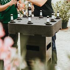 Bier Lounge Biertisch Aufsatz für Bierkisten Getränke Flaschen Kühler Tisch
