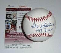 BRAVES Felix Mantilla signed baseball w/ 1957 Braves JSA COA AUTO Autographed