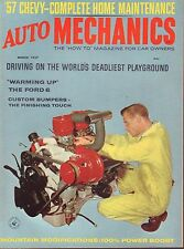 Auto Mechanics March 1957 Custom Bumpers, Mountain Modifications 052517nonDBE