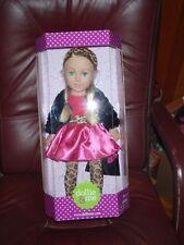 "Madame Alexander 18"" Dollie & Me Doll Pink Dress Leopard Blinking Eye Blonde NIB"