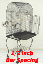 NEW Large 1/2 Inch Bar Spacing Dome Top Bird Cage For Small Size Bird W/STAND