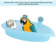 Bird Bath Feeder Bathtub Cute Pet Parrot & Patio Bird Feeding Toy with Mirror