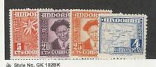 Andorra, Spain, Postage Stamp, #38, 40-41, 48 Mint NH, 1948-53, JFZ