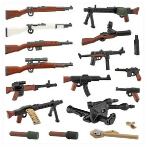 WW2 Weapon for minifigure soldat military toy figurine war WW1/2 gun accessoires