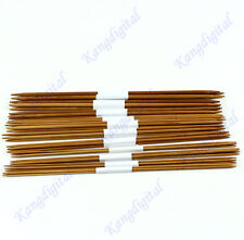 "44Pcs 11sizes 2.0-5.0mm 25cm 10"" Smooth Double Pointed Bamboo Knitting Needles"