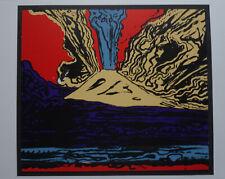 Fine POP ART VESUVIUS Limited Silkscreen Warhol signed & stamped verso