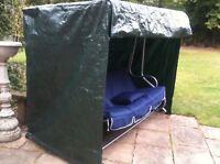 New Swinging Hammock Cover Dark Green Waterproof 3 Seat Furniture Garden Outdoor