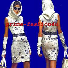 Dolce & Gabbana D&G Gold label Cream Knitted Crystal Embellishment Dress