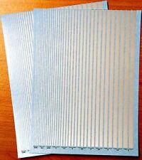 2 DECALS FILETS Gris Argent de 0,25 à 5 mm - DECALCOMANIE