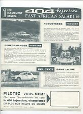 N°7321 / prospectus PEUGEOT 404 Injection East African Safari 66