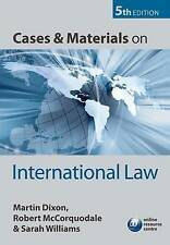 Cases and Materials on International Law, Good Condition Book, Williams, Sarah,