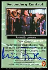 Babylon 5 Ccg Mira Furlan Deluxe Edition Secondary Control Autographed