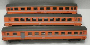 3 X ROCO4236 series ORANGE SCNF 1ST CLASS, 2ND CLASS AND LUGGAGE CARS NO BOX