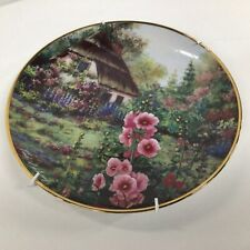 Hollyhock Cottage: Franklin Mint Heirloom Limited Edition Decorative Plate #323