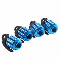 Shaped Blue Mini Car Tire Tyre Valve Cap Cover FP