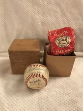 1955 Boston Red Sox Signed OAL Harridge Team Baseball w/ Ted Williams Beauty!!