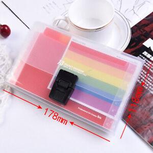 Plastic Portable File Folder Extension Wallet Bill Receipt File Sorting Organ Js