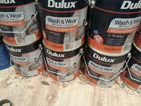 DULUX 4 LITRE WASH-WEAR INTERIO KIT&BATHROOM LOW/SHEEN VIVID-WHITE colour paint