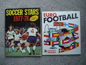 2 PART FILLED ALBUMS PANINI EURO 1976-78 AND FKS SOCCER STARS 1977-78