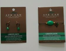 African Elements Jade Bracelet and earrings