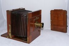 "Antique Tailboard 10x12"" Large Format Camera w/16"" H. Mackenstien brass lens."