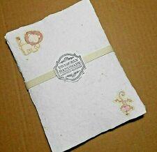 Handmade Paper Sheets - 10 sheets - Baby Animals  (863) Free Shipping