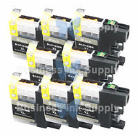 8 BLACK New Chip LC103XL 101 Ink Cartridge for Brother MFC-J650DW MFC-J870DW