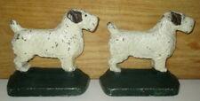 RARE #52 ANTIQUE HUBLEY SEALYHAM TERRIER CAST IRON DOG STATUE ART BOOKENDS