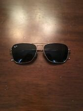Ray Ban Sunglasses Caravan Style with Black Lenses and Gold Metal Frames