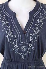 Sonoma Stretch Knit Tunic T-Shirt Dress Soft Navy Blue Cotton Modal Boho Small