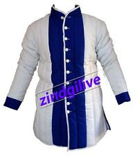 Medieval Armour Thick padded White And Blue Gambeson play  theater custome sca